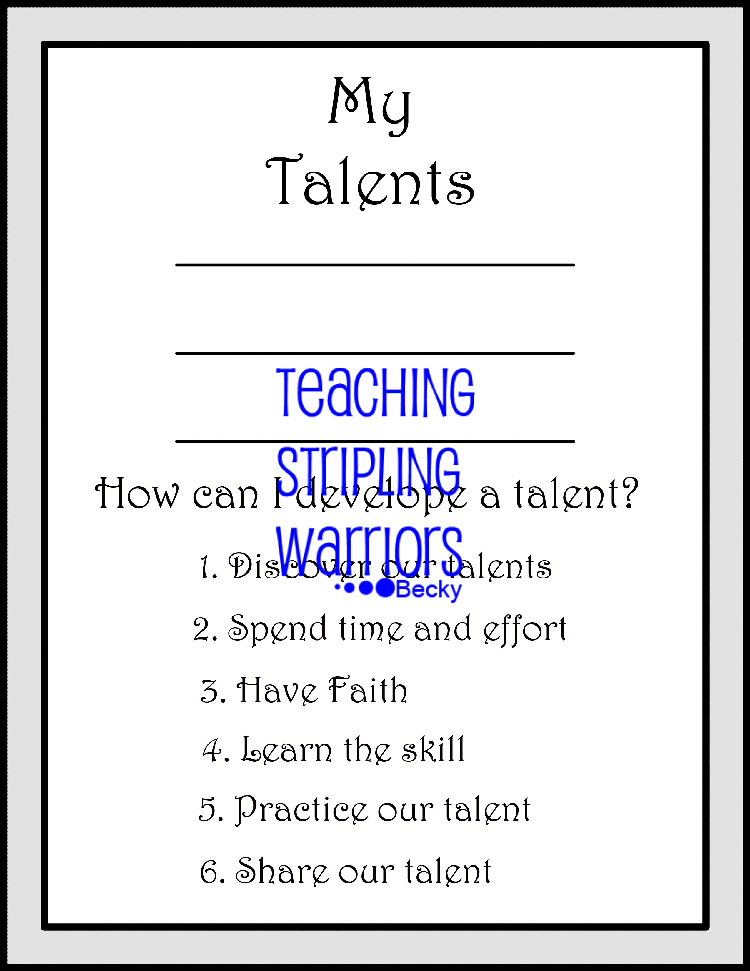 Lesson 26: Parable of the Talents - Teaching Stripling ...